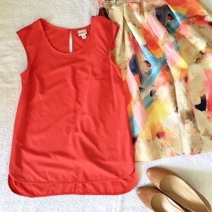 Orange Sleeveless Keyhole Top ⭐️ NWOT